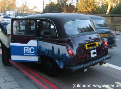 taxifahren in london